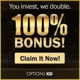 200% Cash Deposit Bonus with OptionsXO – Binary Options Broker!