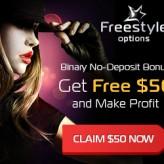Freestyle Options Broker – 50$ No Deposit Trading Bonus and Risk Free Trades!