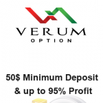 Verum Option Broker Review – Binary Options Low 1$ Minimum Trade Size